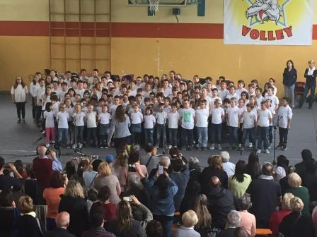 """2016 – Primaria Maslianico – Saggio musicale """"I diritti dei bambini"""""""